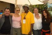 Michael badalucco, jessica capshaw, steve harris, camryn manheim e rhona mitra — Foto Stock