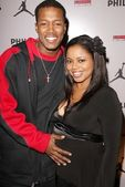 Flex Alexander and Shanice Wilson — Stock Photo