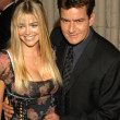Denise Richards and Charlie Sheen — Stock Photo