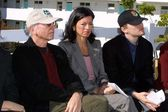 Larry David, Laurie David and Leonardo DiCaprio — Stock Photo