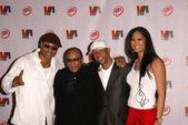 LL Cool J, Quincy Jones, Russel Simmons and Kimora Lee — Stock Photo