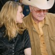 Bridget Fonda and Larry Hagman — Stock Photo