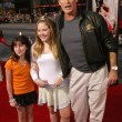 David Hasselhoff, daughter Hayley and her friend Alyx — Stock Photo