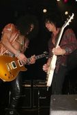 Slash and Steve Stevens — Stock Photo