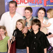 Stock Photo: Christopher McDonald, his wife Lupe and children