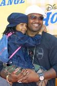 Aries Spears and daughter — Stock Photo