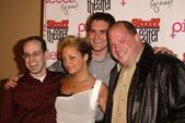 """Average Joes"" Marc Marcuse, Brad Holcman and Jay Greenberg with Nicole Richie — Stock Photo"