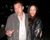 Tom Sizemore and new fiancee Jessica Richards — Stock Photo