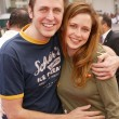 James Gunn and Jenna Fisher - Stockfoto