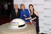 Johnny Grant, Karen Sharpe Kramer and Katharine Kramer — Stock Photo