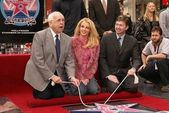 Johnny Grant, Britney Spears and Leron Gubler at Spears induction into the Hollywood Walk of Fame, Hollywood, CA 11-17-03 — Stock Photo