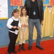 David James Elliott with daughter Stephanie and a friend - Stock Photo