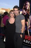 Colin Farrell and his mom — Stock Photo