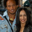 Kiko Ellsworth and fiance Michelle Rodriguez — Stock Photo