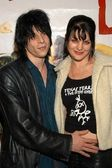 Coyote Shivers and wife Pauley Perrette — Stock Photo