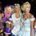Erica Lookadoo, Tiffany Holiday, Paris Hilton and Patricia Brown — Stock Photo