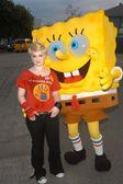 Kelly Osbourne and Sponge Bob — Stock Photo