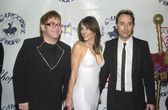 Elton John, Elizabeth Hurley and David Furnish — Stock Photo