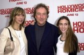 Eric Idle with wife Tanya and daughter Lily — Stock Photo