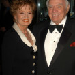 Ernest Borgnine and wife Tova — Stock Photo