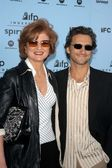 Arianna Huffington and Lawrence Bender — Stock Photo