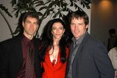 David Kemper, Claudia Black and Ben Brouder — Stock Photo