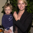 Amber Valetta and son Auden - Stock Photo
