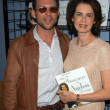 Christian Slater with mother-in-law Dayle Haddon — Stock Photo