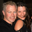Neal McDonough and fiance Ruve — Stock Photo