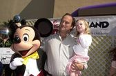 Jim Belushi and daughter Jamison and Mickey Mouse — Stockfoto