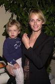 Amber Valetta and son Auden — Stock Photo