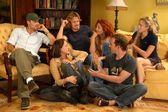 Brad Rowe, Brian Austin Green, Jennifer Blanc, Jenna Mattison and Bryan Callen — Stock Photo