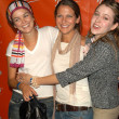 Nora Zehetner, Majandra Delfino and friend — Stock Photo