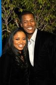 Flex Alexander and wife Shanice — Stock Photo