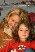 Jennifer Blanc and god-daughter Sierra — Stock Photo