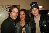 Sam Ball, Christine Ferreira and Cole Hauser — Stock Photo
