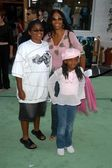 Cookie Johnson and family — Stock Photo