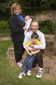 Bernie Kopell, wife Catrina, baby Josh and son Adam — Stock Photo