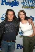 Edward Furlong and girlfriend Liz Levy — Stock Photo