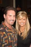 Danny Gans and Nancy O'Dell — Stock Photo