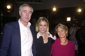 Julie Bowen with dad Jack and mom Susie — Stock Photo
