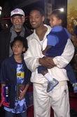 уилл смит с отцом и детьми — Стоковое фото