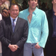 John Woo and Nicolas Cage — Stock Photo