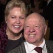 Stock Photo: Mickey Rooney and wife January