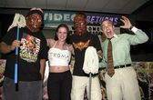 Noxie, Tromette Chlamydia and the Toxic Avenger with Lloyd Kaufman — Stock Photo