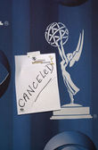 Cancellation Notice The cancelled 53rd Annual Primetime Emmy Awards, Shrine Auditorium, 10-07-01 — Stock Photo
