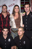 Nadia Bjorlin and Firemen — Stock Photo
