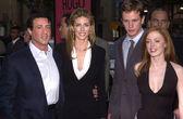 Sly Stallone, Jennifer Flavin, Kip Pardue and Rose McGowan — Stock Photo