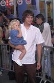 Bucky Lasek with daughter Paris — Stock Photo