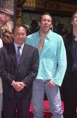 John Woo and Nicolas Cage — Stock Photo